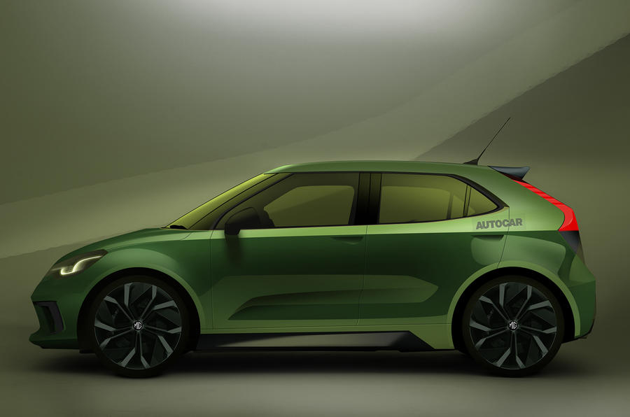 MG's new electric supermini sketch by Autocar